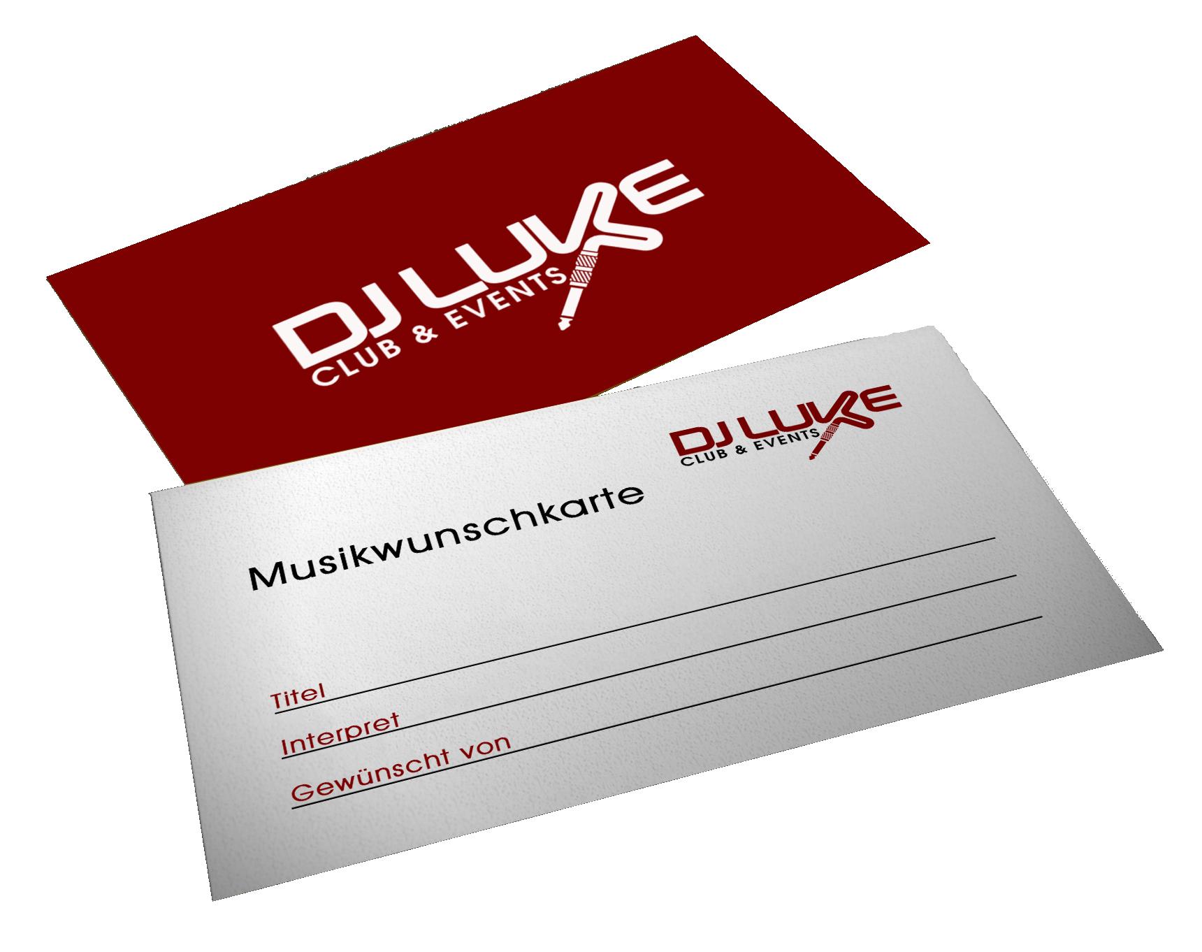DJ Luke Musikwunschkarte